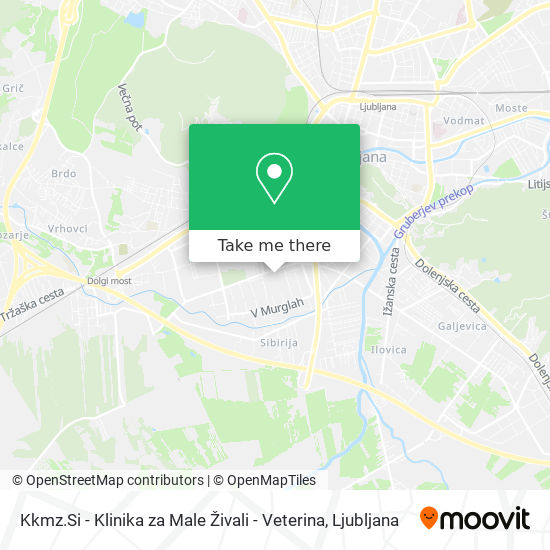 Kkmz.Si - Klinika za Male Živali - Veterina map