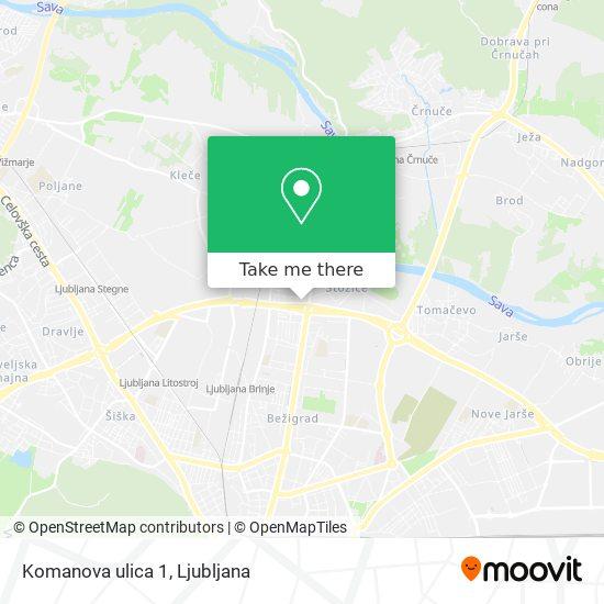 Komanova ulica 1 map