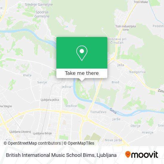 British International Music School Bims map