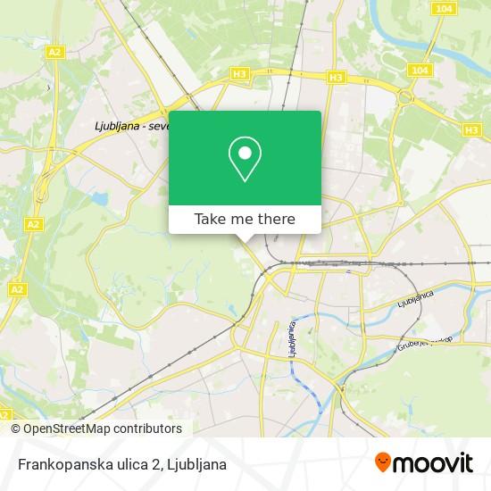 Frankopanska ulica 2 map
