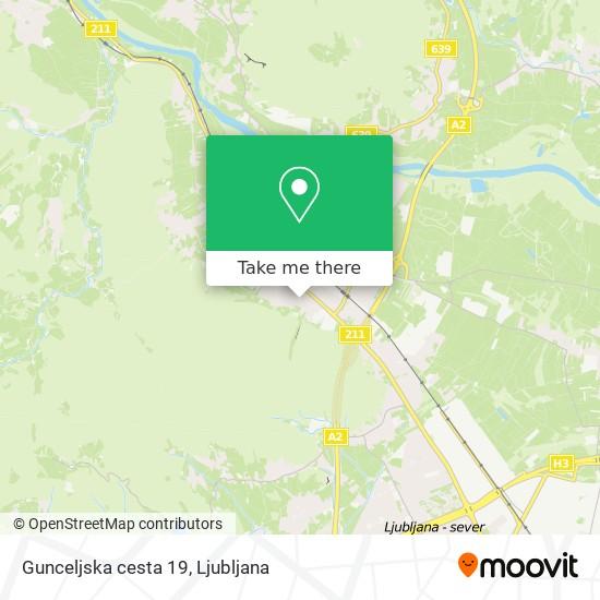 Gunceljska cesta 19 map