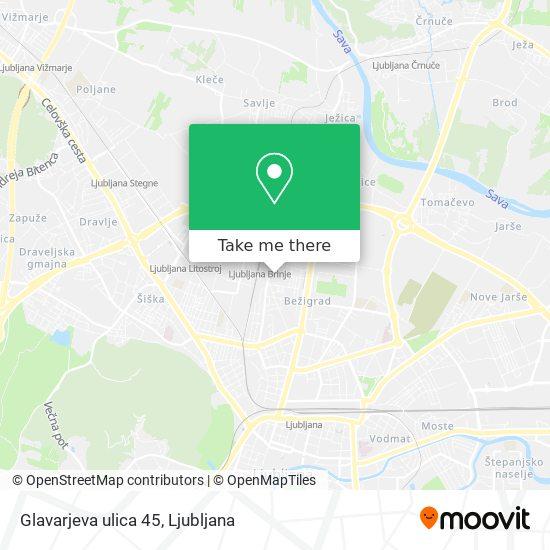 Glavarjeva ulica 45 map