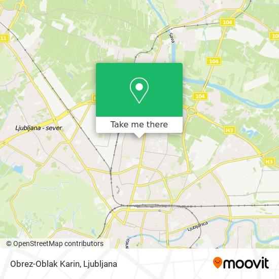 Obrez-Oblak Karin map