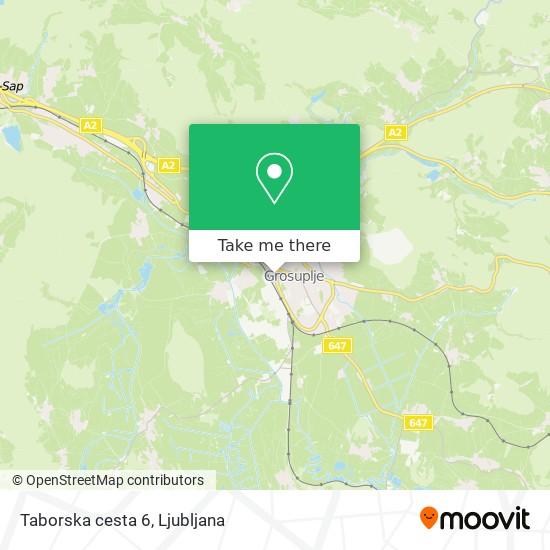 Taborska cesta 6 map