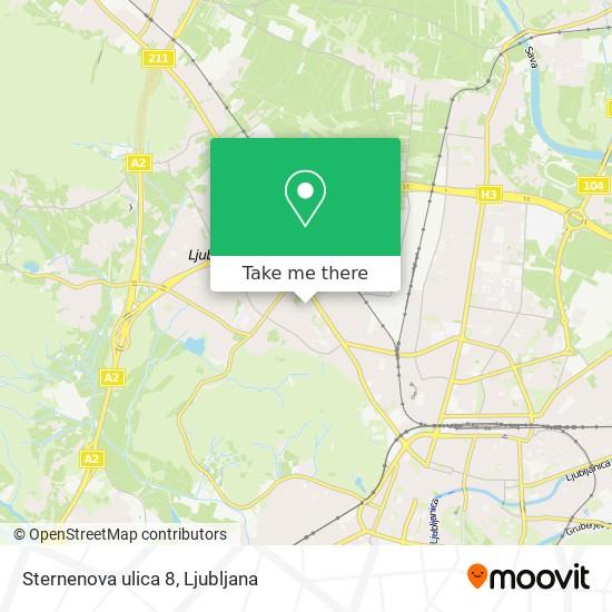 Sternenova ulica 8 map