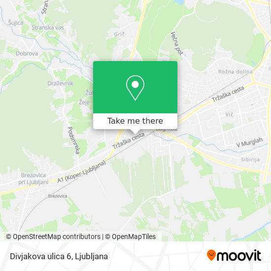 Divjakova ulica 6 map