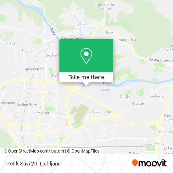 Pot k Savi 20 map