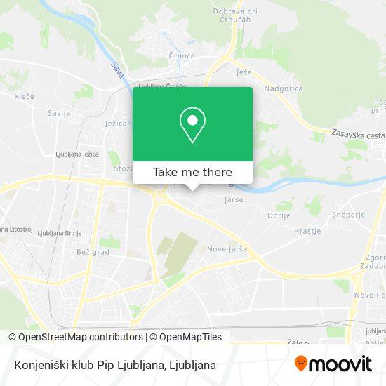 Konjeniški klub Pip Ljubljana map