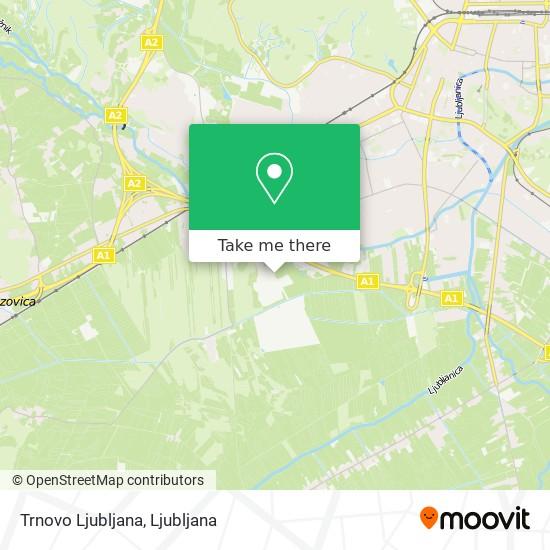 Trnovo Ljubljana map