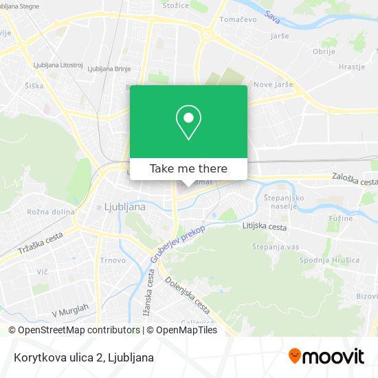 Korytkova ulica 2 map