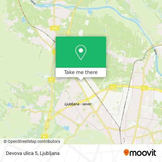 Devova ulica 5 map