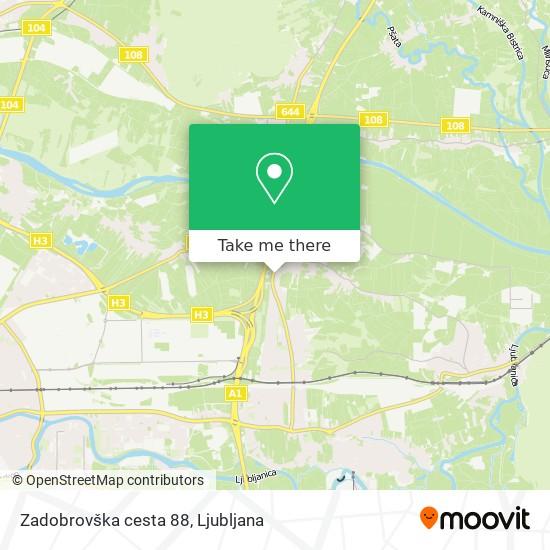 Zadobrovška cesta 88 map