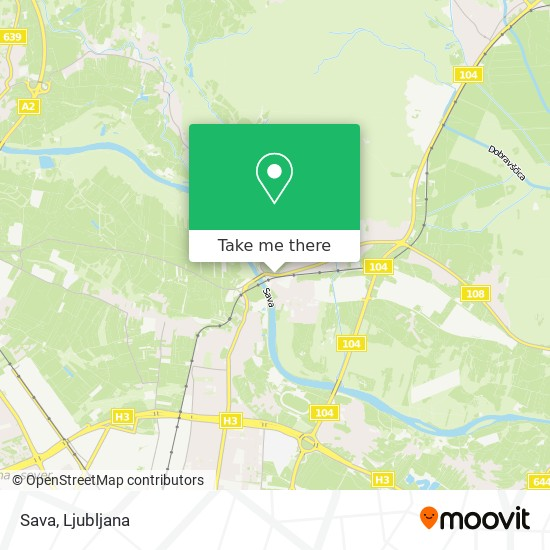 Sava map