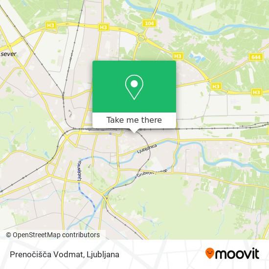 Prenočišča Vodmat map
