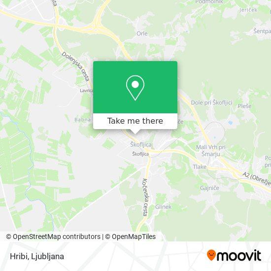 Hribi map