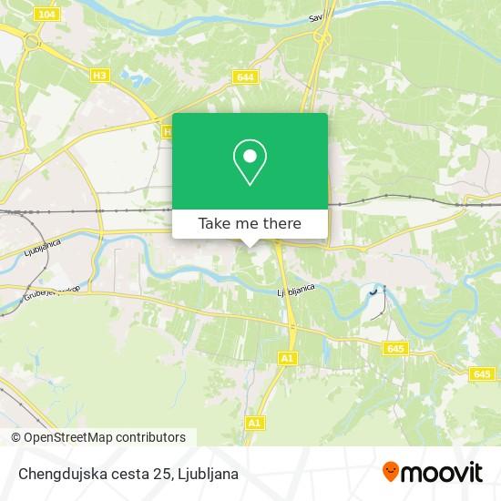 Chengdujska cesta 25 map