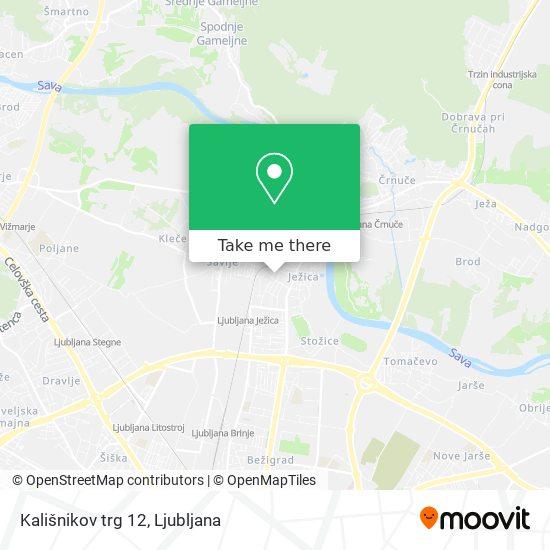 Kališnikov trg 12 map