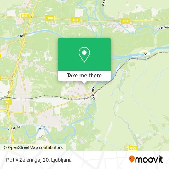 Pot v Zeleni gaj 20 map