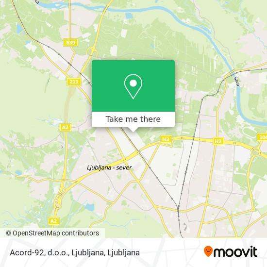 Acord-92, d.o.o., Ljubljana map