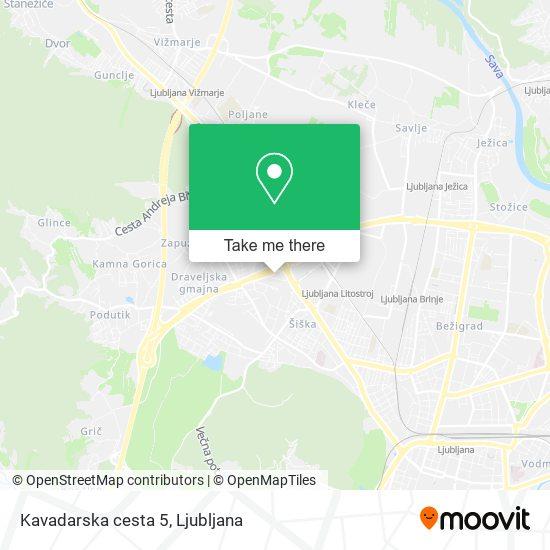 Kavadarska cesta 5 map