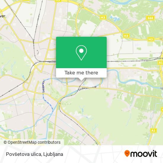 Povšetova ulica map