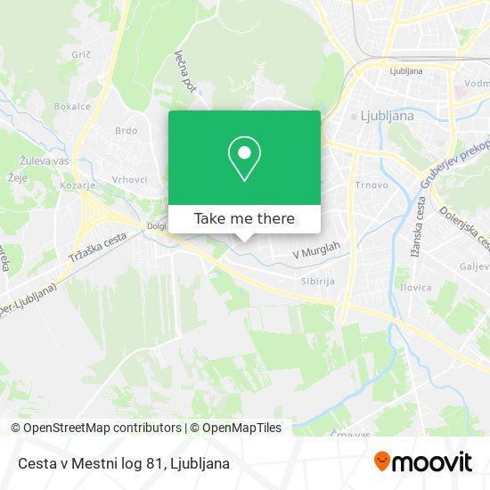Cesta v Mestni log 81 map