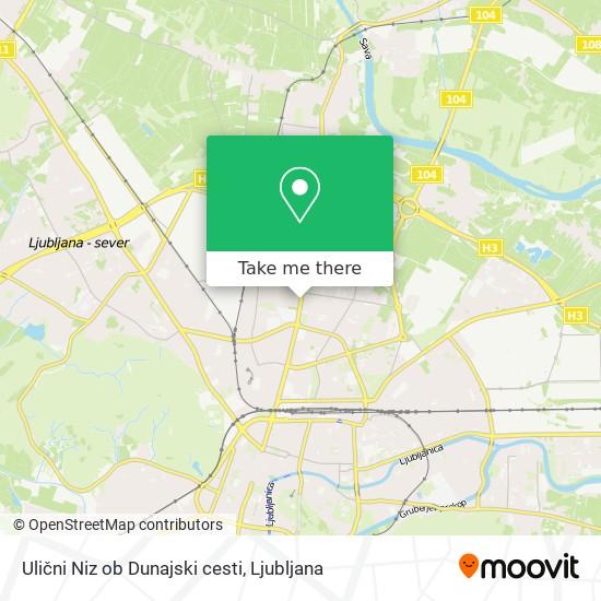 Ulični Niz ob Dunajski cesti map