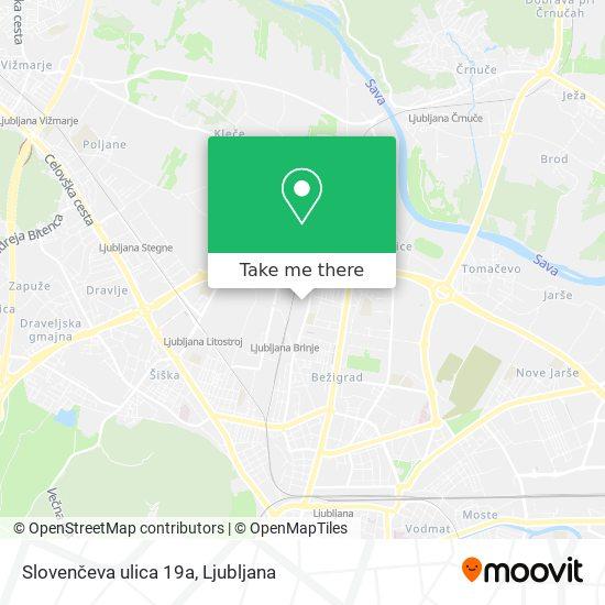 Slovenčeva ulica 19a map