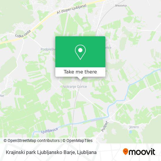 Krajinski park Ljubljansko Barje map