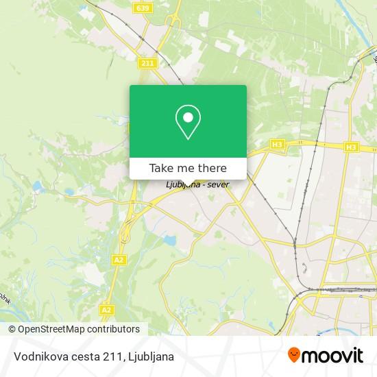 Vodnikova cesta 211 map