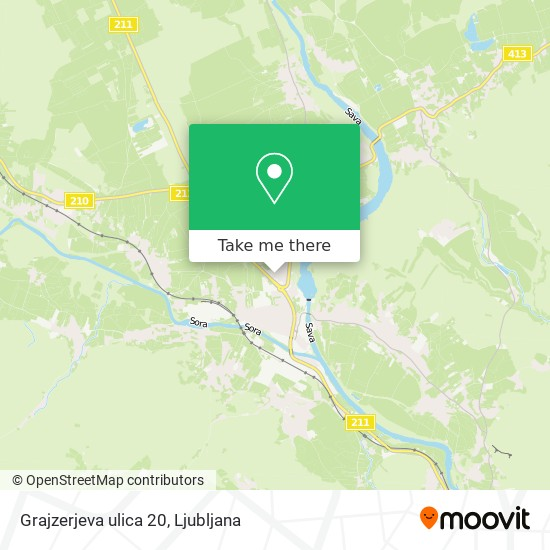 Grajzerjeva ulica 20 map