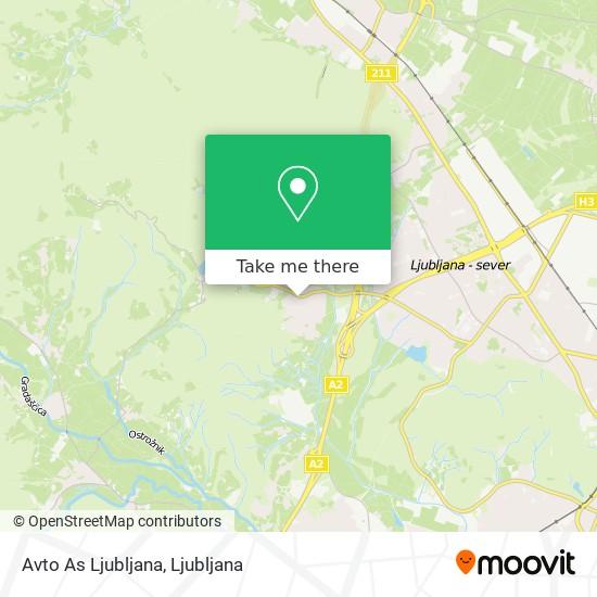 Avto As Ljubljana map
