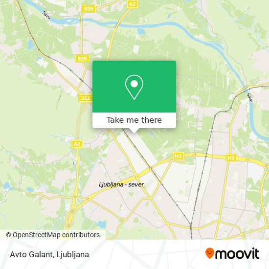 Avto Galant map