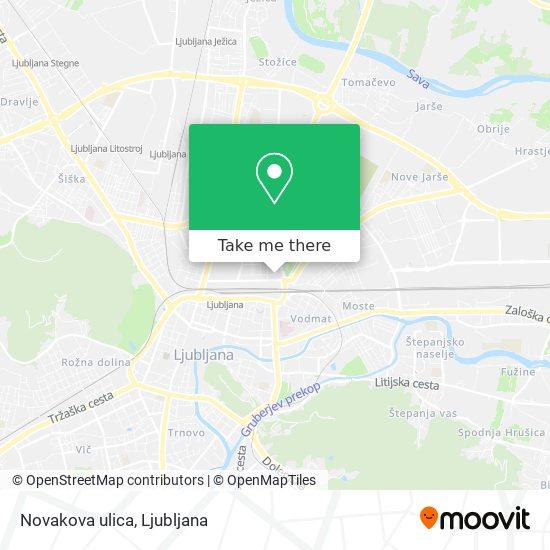 Novakova ulica map