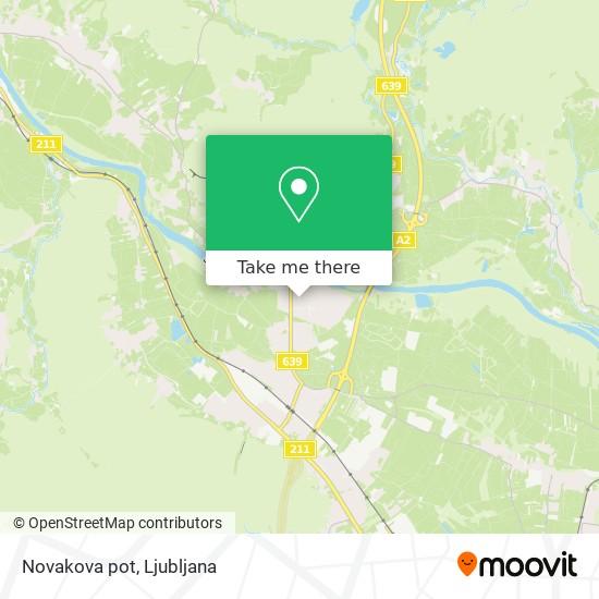 Novakova pot map