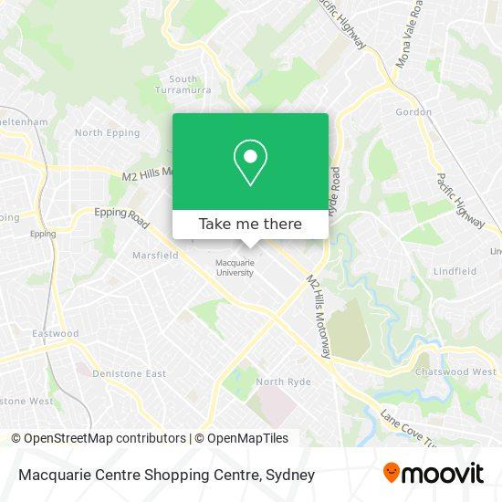 Macquarie Centre Shopping Centre map