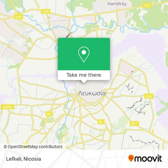 Lefkeli map