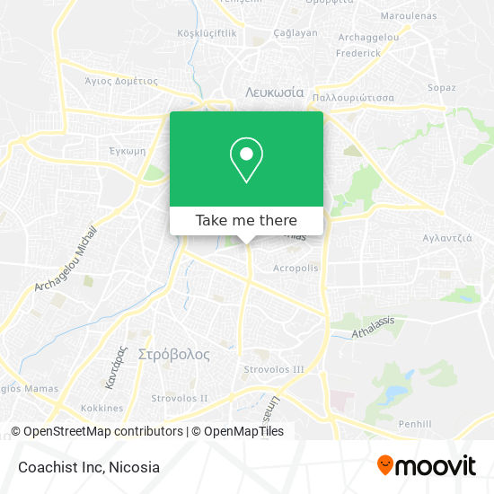 Coachist Inc map