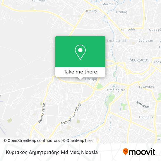 Κυριάκος Δημητριάδης Md Msc map