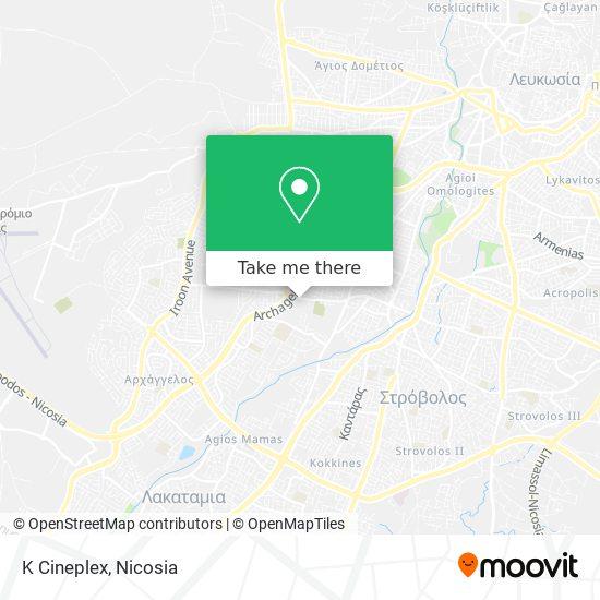 K Cineplex map