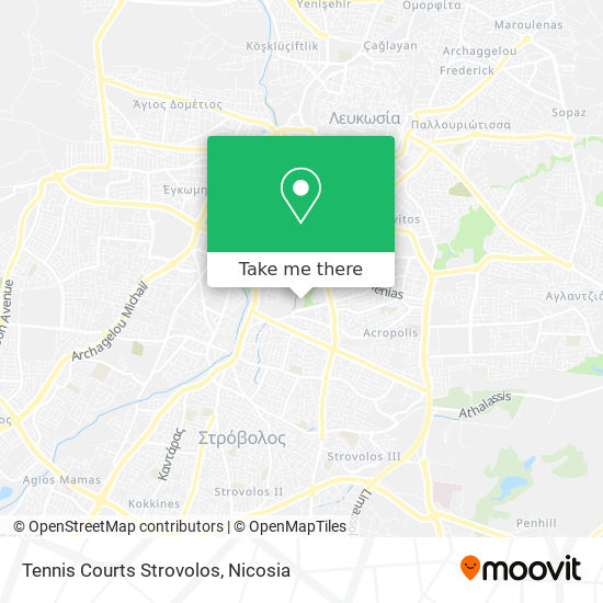 Tennis Courts Strovolos map