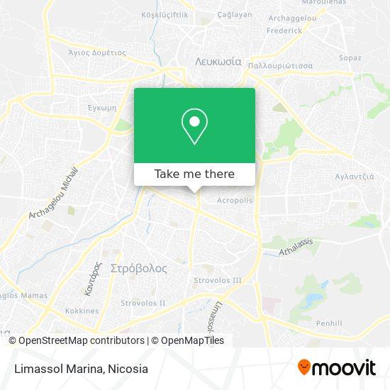 Limassol Marina map