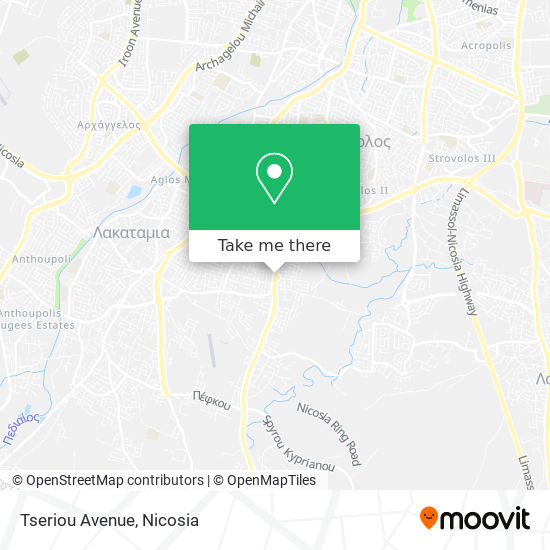 Tseriou Avenue map