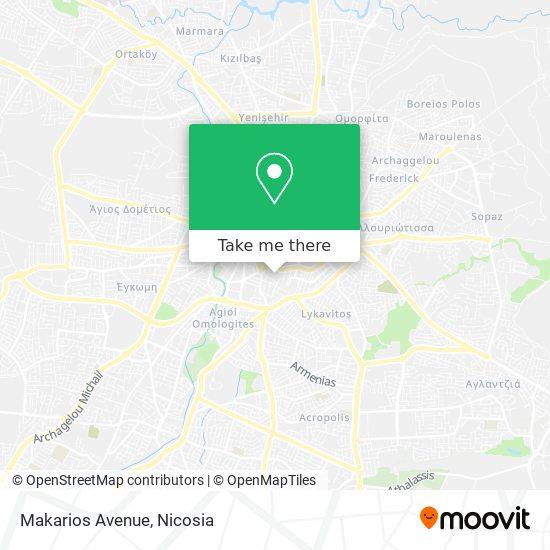 Makarios Avenue map