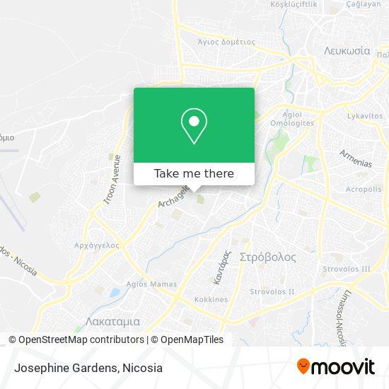 Josephine Gardens map