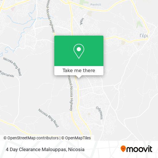 4 Day Clearance Malouppas map