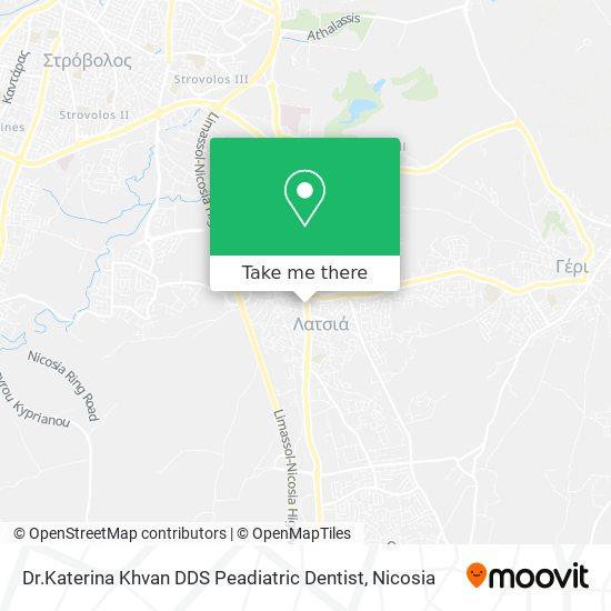 Dr.Katerina Khvan DDS  Peadiatric Dentist map