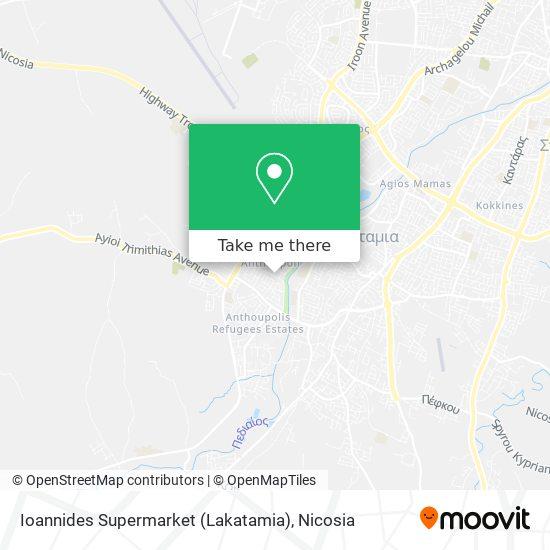 Ioannides Supermarket (Lakatamia) map