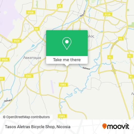 Tasos Aletras Bicycle Shop map