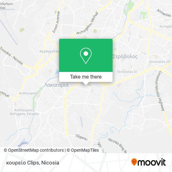 κουρείο Clips map